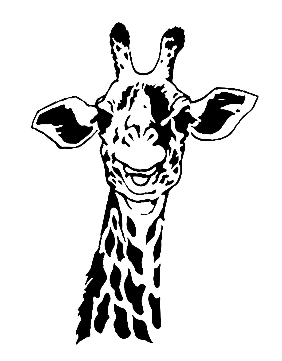 Giraffe Neck Wall Decal For Kids Room Safari Jungle Theme