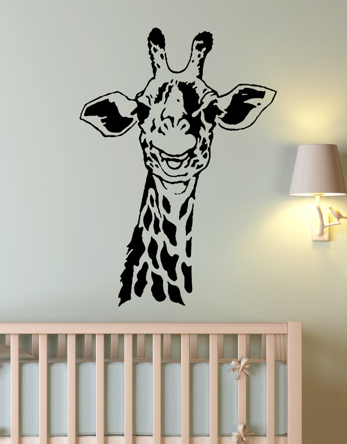 Giraffe Neck Wall Decal for Kids Room. Safari Jungle Theme Decor. #145