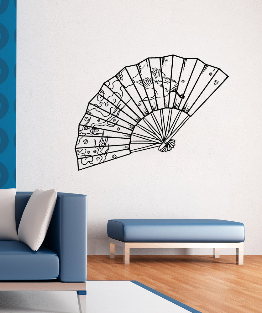 Vinyl Wall Decal Sticker Japanese Fan - Japanese wall decals