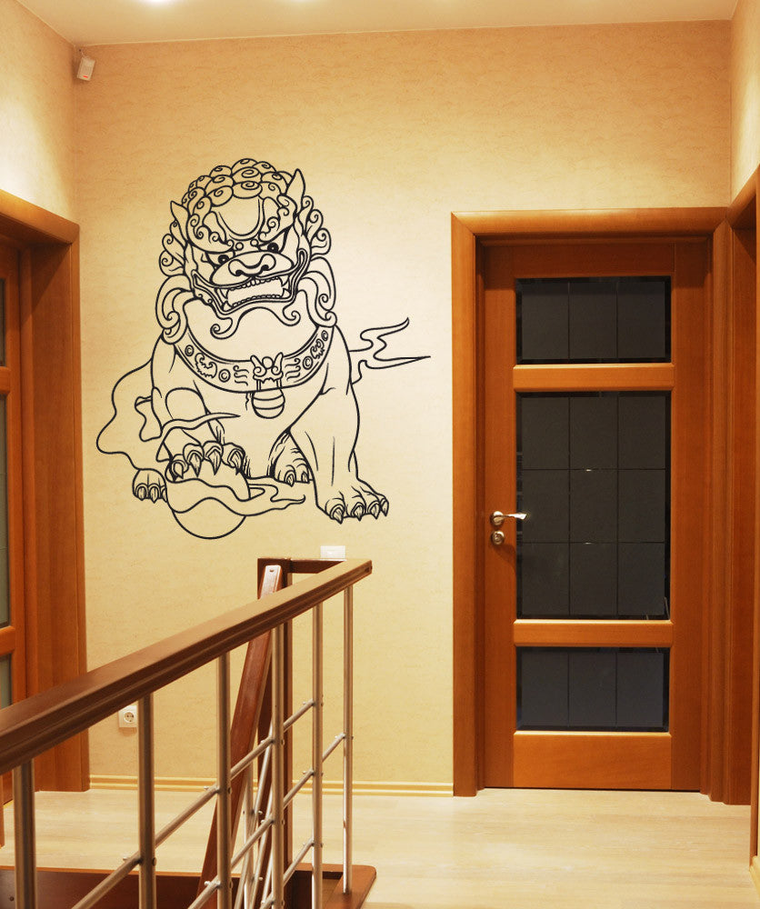 Vinyl Wall Decal Sticker Chinese Guardian Lion #1455