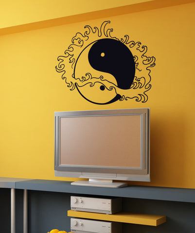 Vinyl Wall Decal Sticker Water Yin Yang #1459