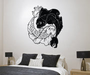 Koi Fish Yin Yang Vinyl Wall Decal Sticker. #1461