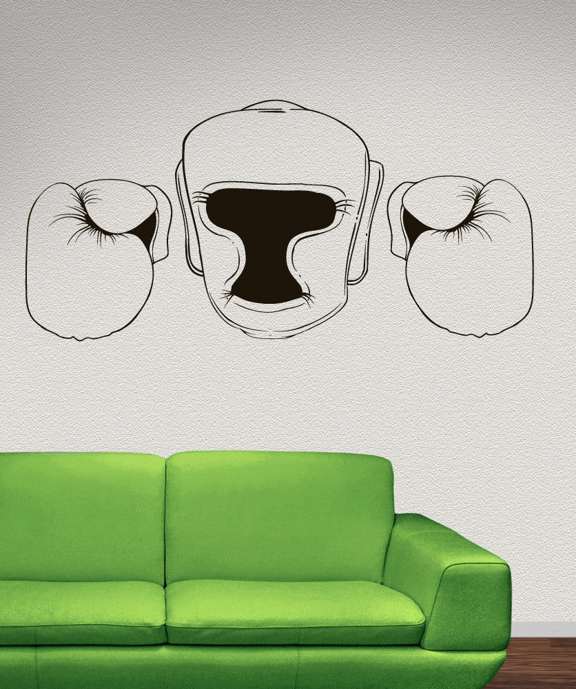Vinyl Wall Decal Sticker Martial Arts Gear Outline #1479