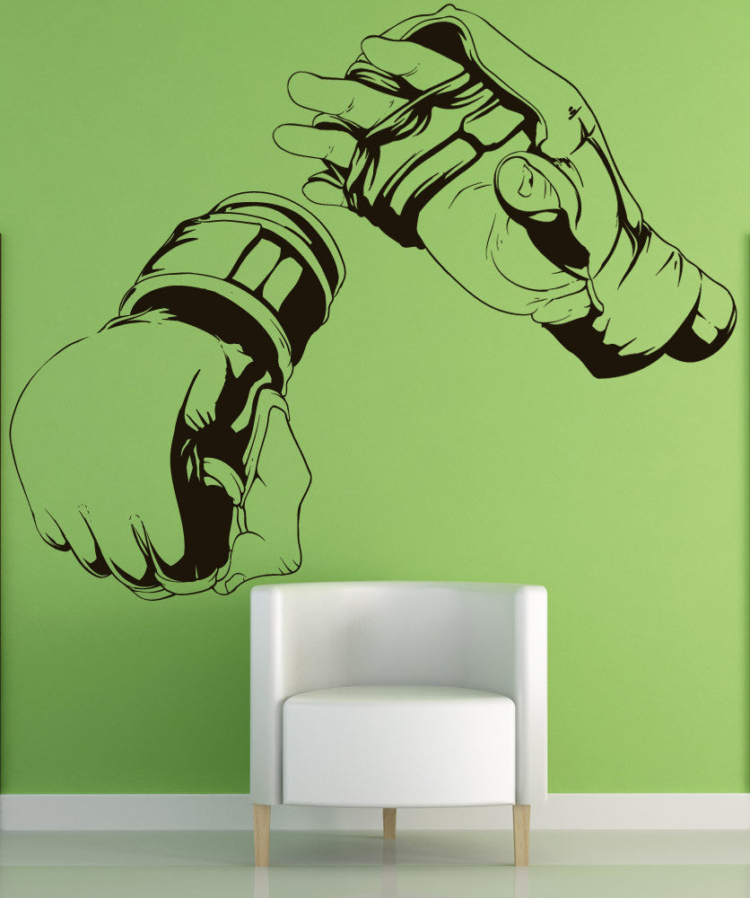 Vinyl Wall Decal Sticker MMA Hands #1481
