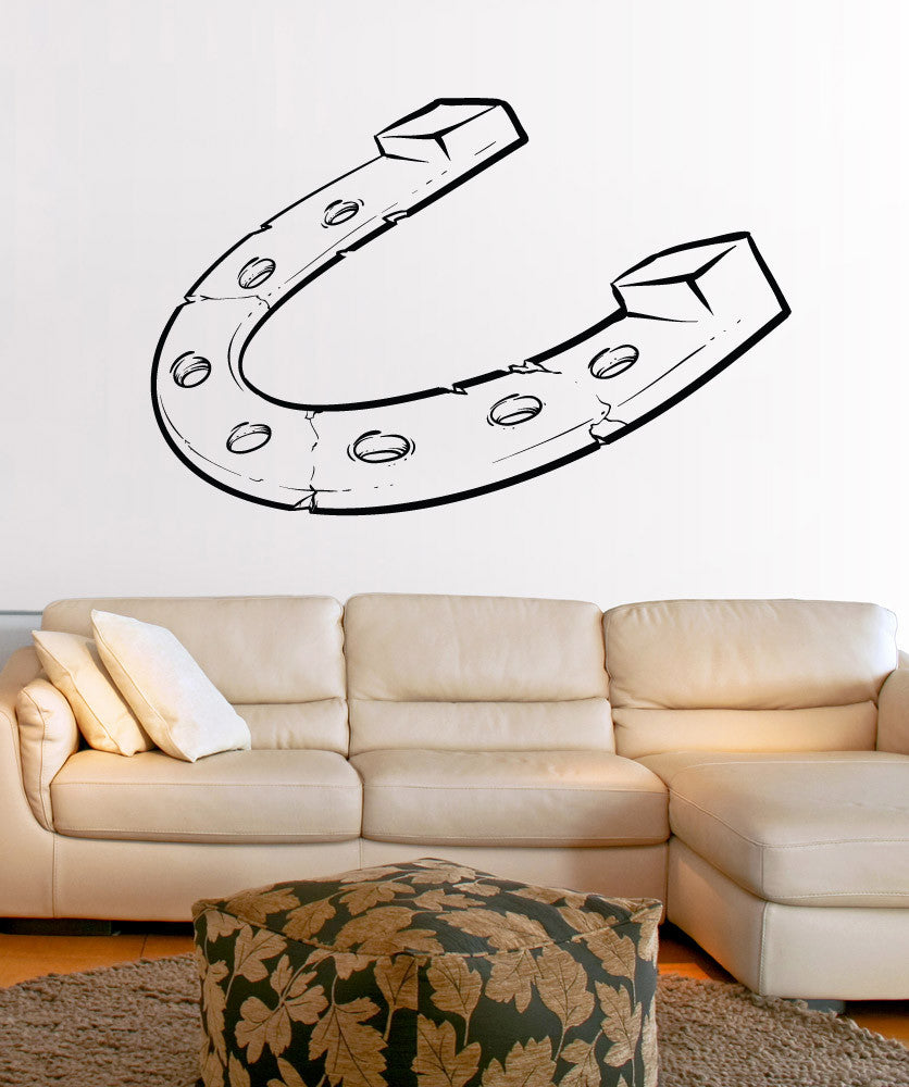 Vinyl Wall Decal Sticker Lucky Horseshoe #1482