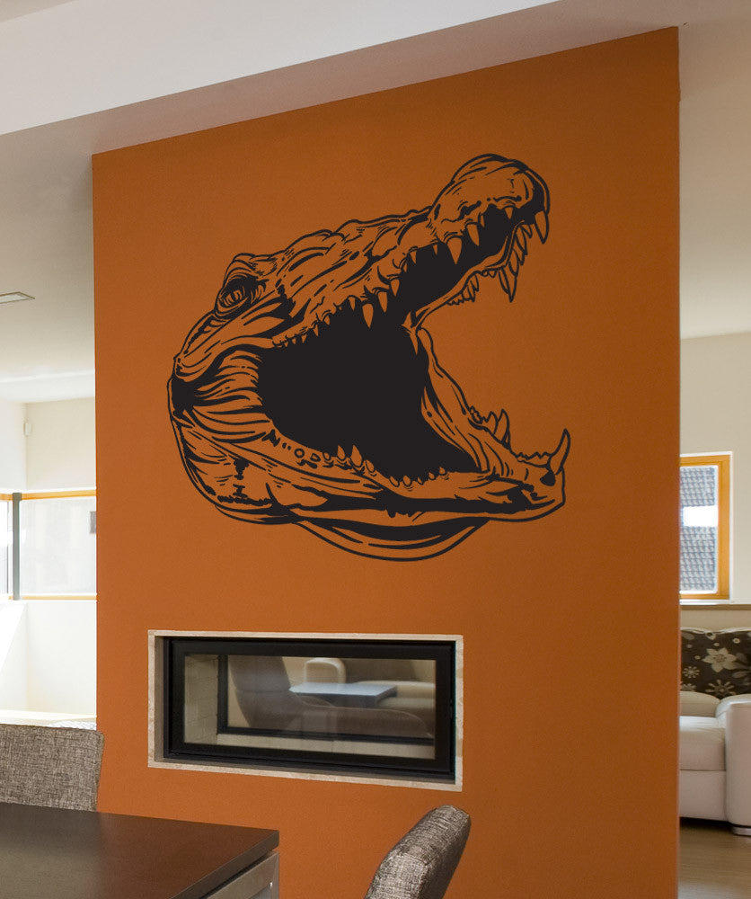 Vinyl Wall Decal Sticker Gator Head #1488