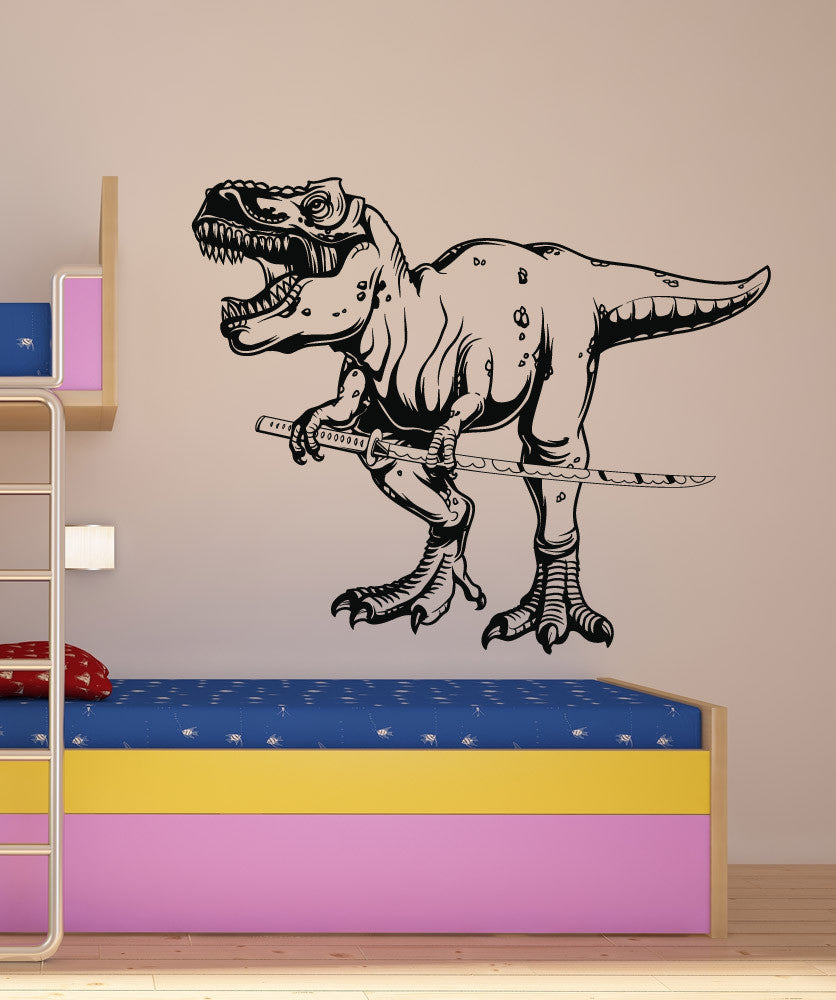 Vinyl Wall Decal Sticker Samurai T Rex 1492