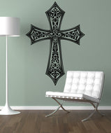 Vinyl Wall Decal Sticker Detailed Cross #1495