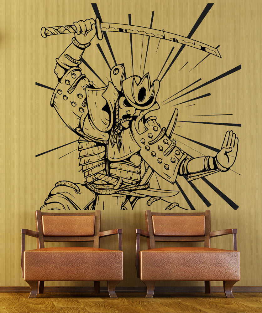 Vinyl Wall Decal Sticker Samurai In Action #1497