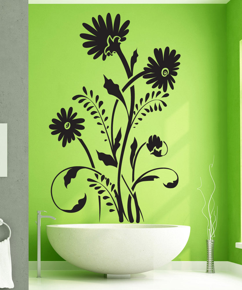Vinyl Wall Decal Sticker Tall Daisies #1504