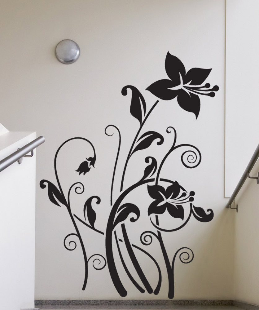 Vinyl Wall Decal Sticker Tall Lilies #1506