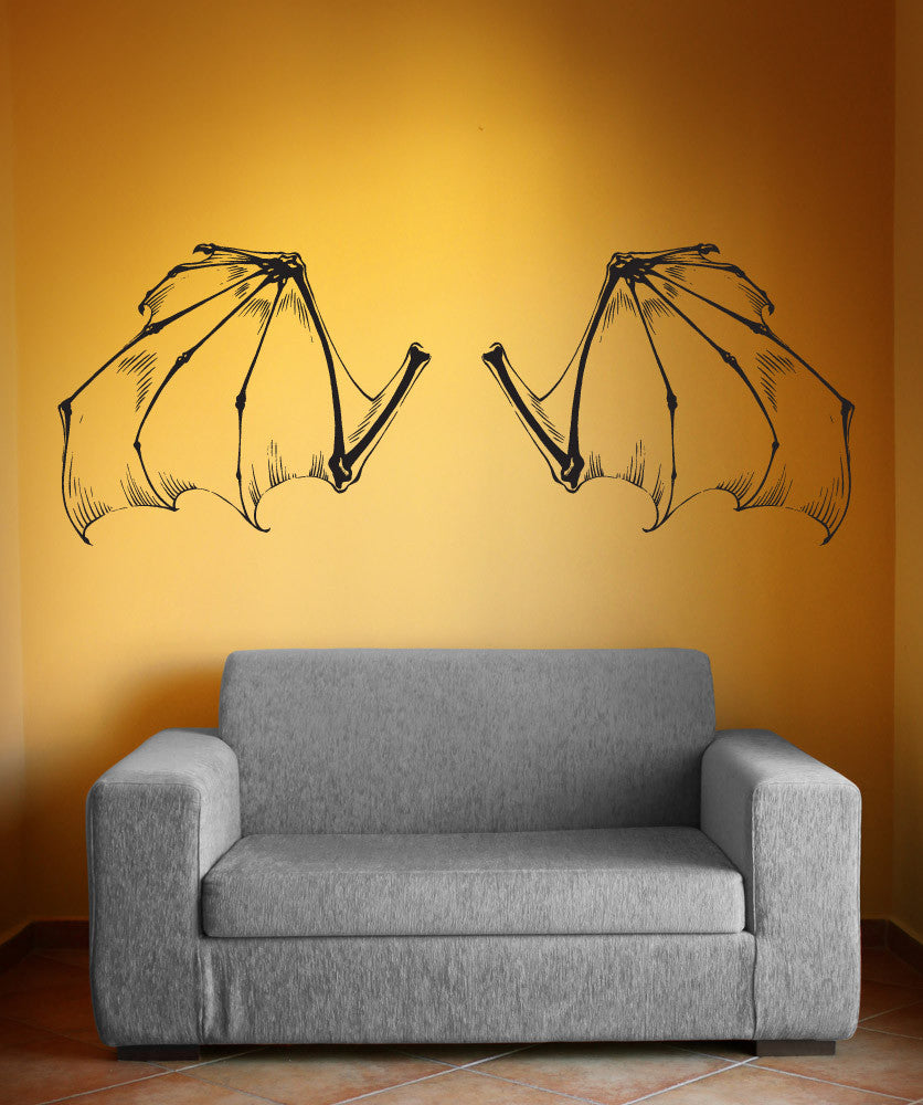 Vinyl Wall Decal Sticker Bat Wings #1510
