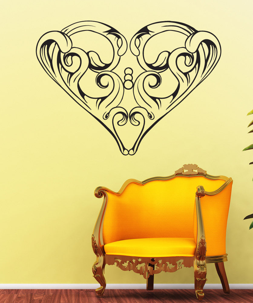 Vinyl Wall Decal Sticker Abstract Vintage Heart #1523