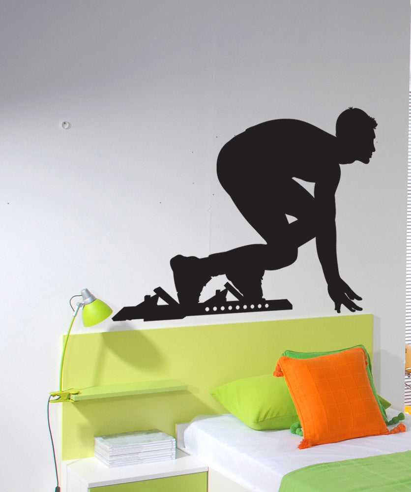 Vinyl Wall Decal Sticker Track Start #1532