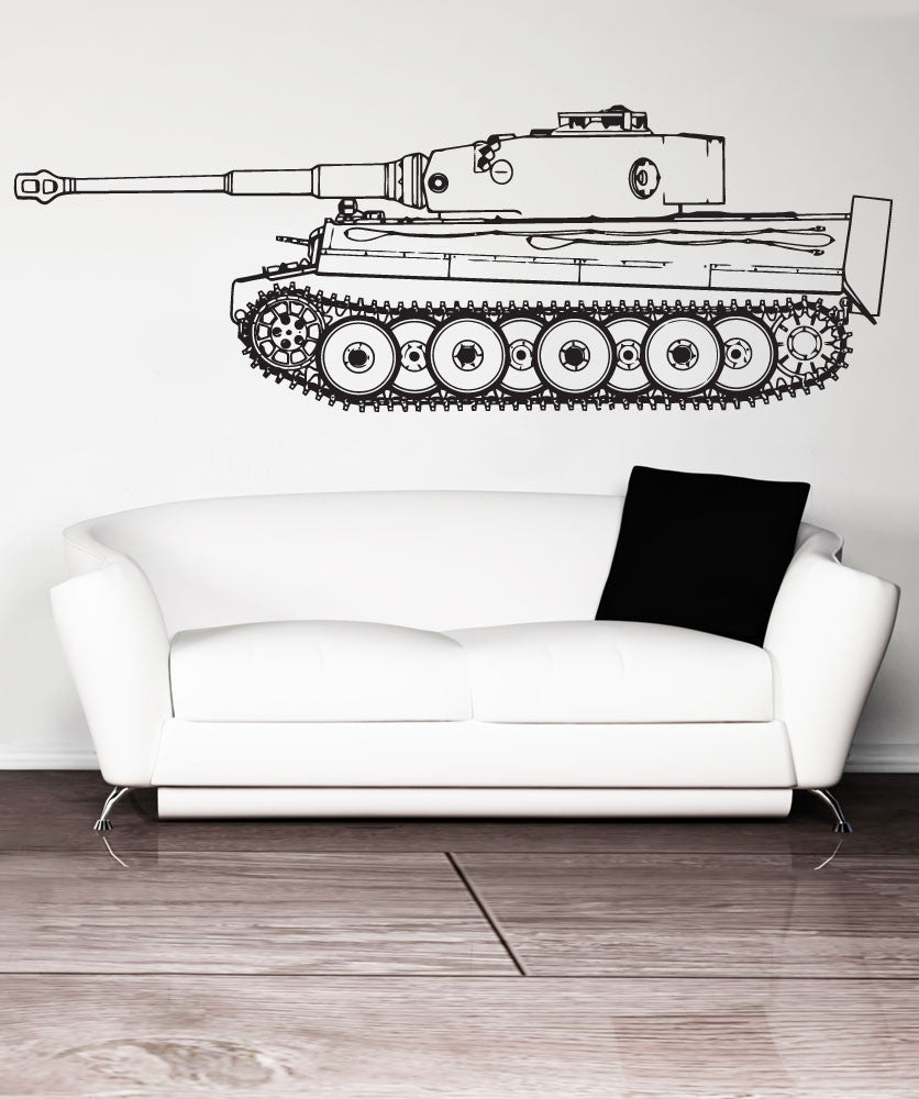 Vinyl Wall Decal Sticker German Panzer Tiger Tank #1536