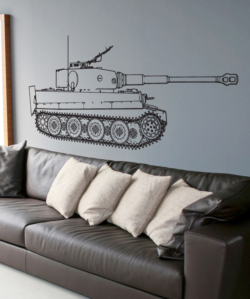 Vinyl wall decal sticker german tiger tank side 1537