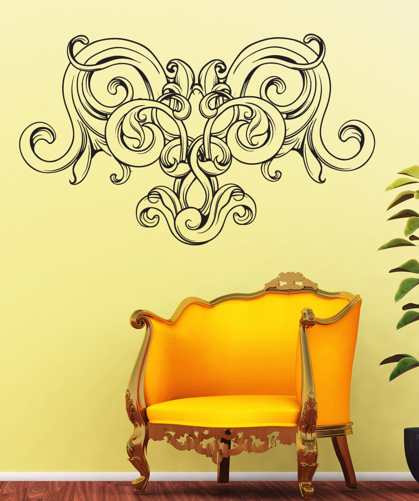 Vinyl Wall Decal Sticker Vintage Vine Heart #1538