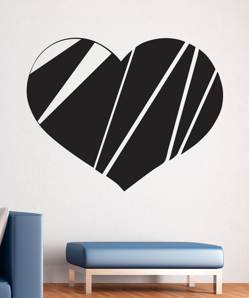 Vinyl Wall Decal Sticker Fragmented Heart #1539
