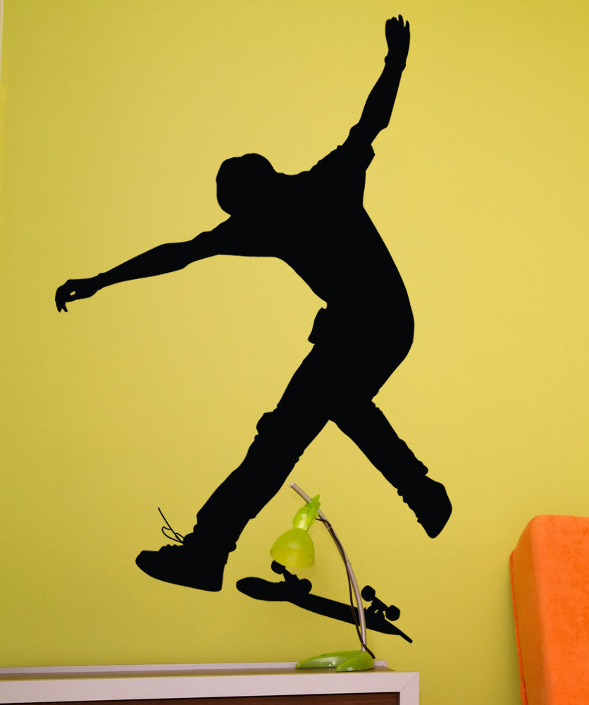 Vinyl Wall Decal Sticker Skateboard Trick #1542