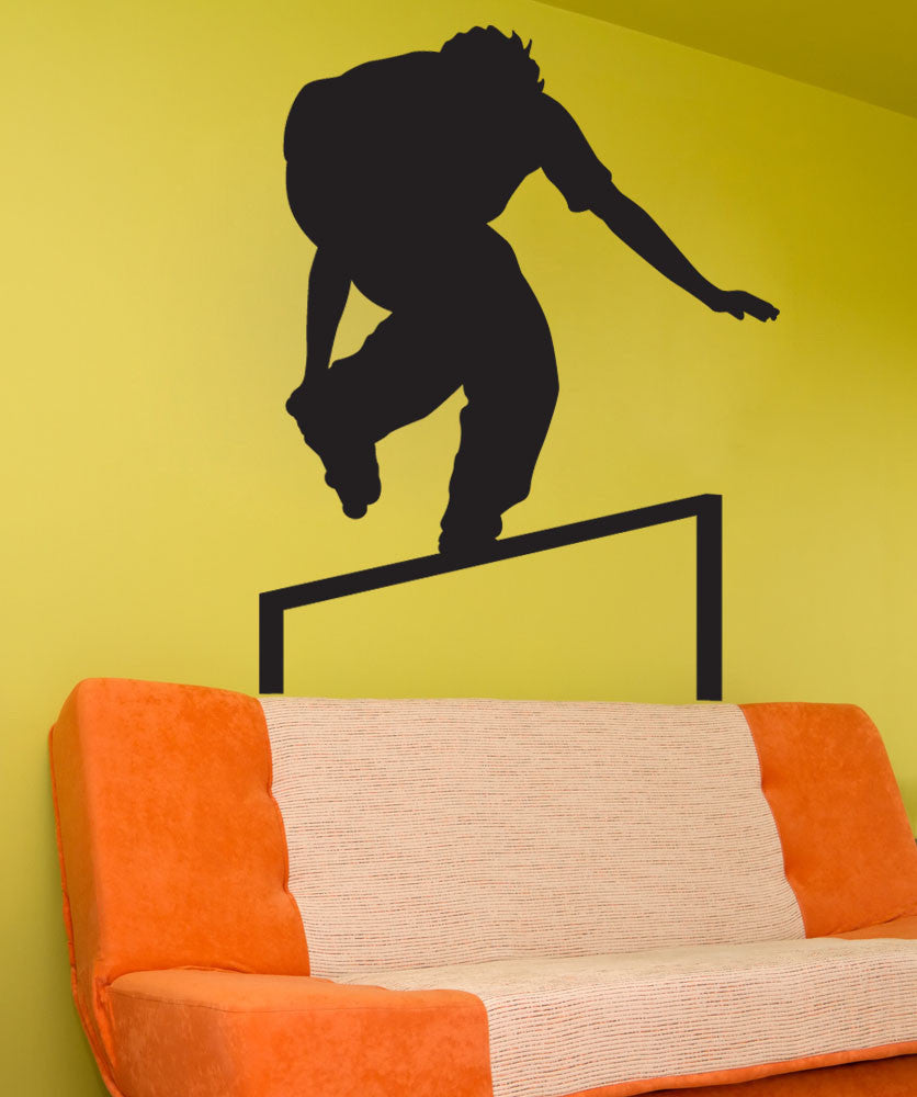Vinyl Wall Decal Sticker Rollerblade Grinding #1549