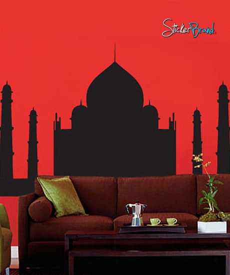 Vinyl Wall Art Decal Sticker Taj Mahal Silhouette India #154