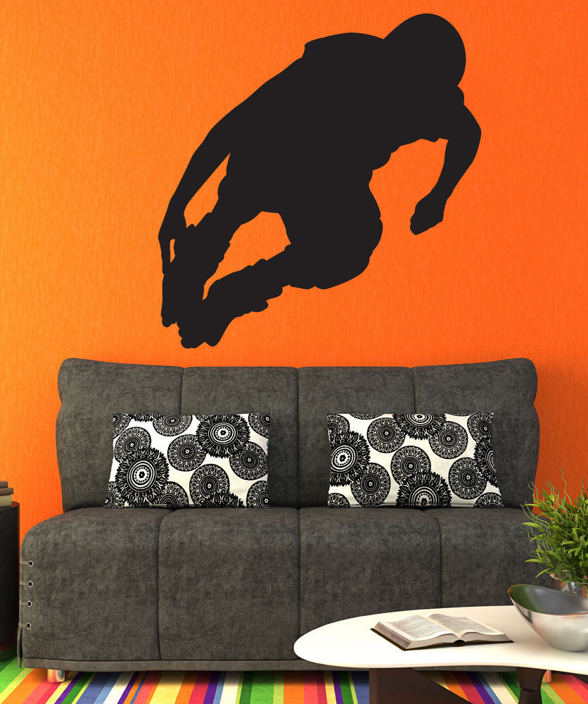 Vinyl Wall Decal Sticker Rollerblade Jump #1550