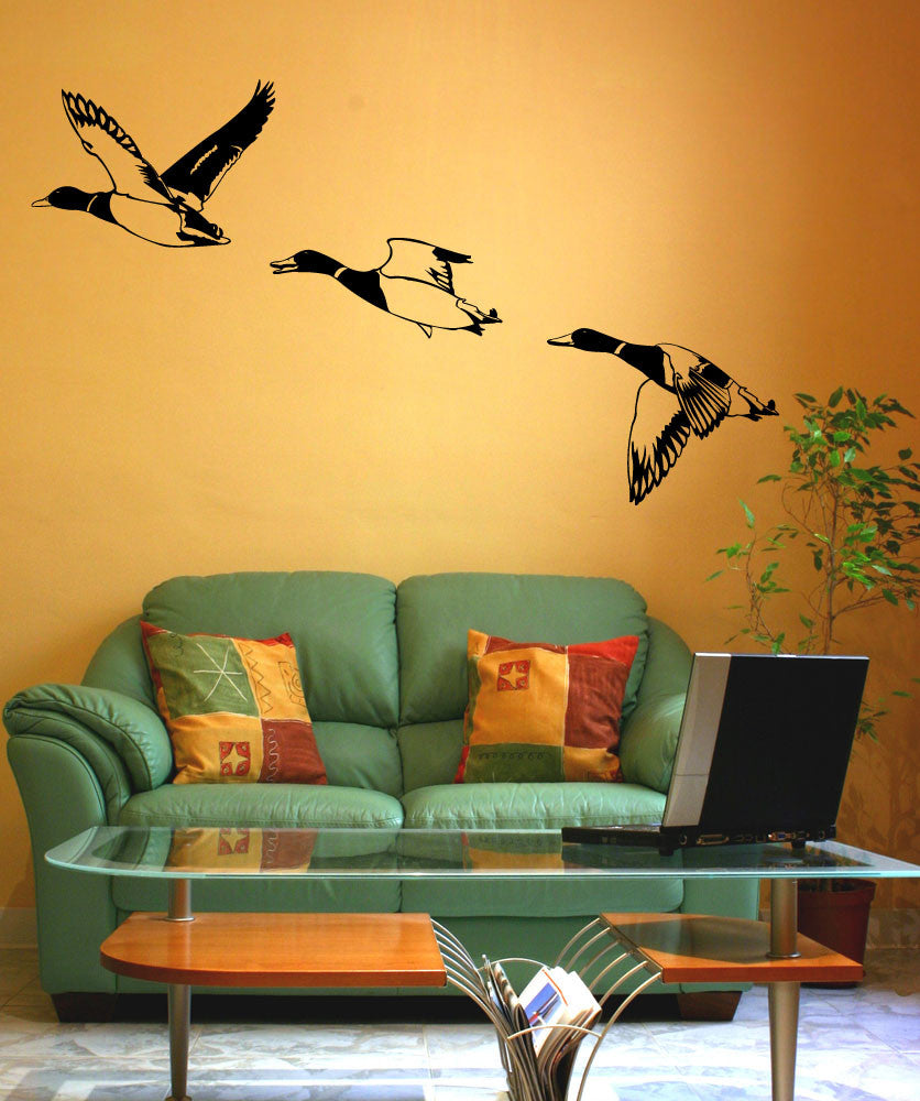 Vinyl Wall Decal Sticker Flying Ducks #1556