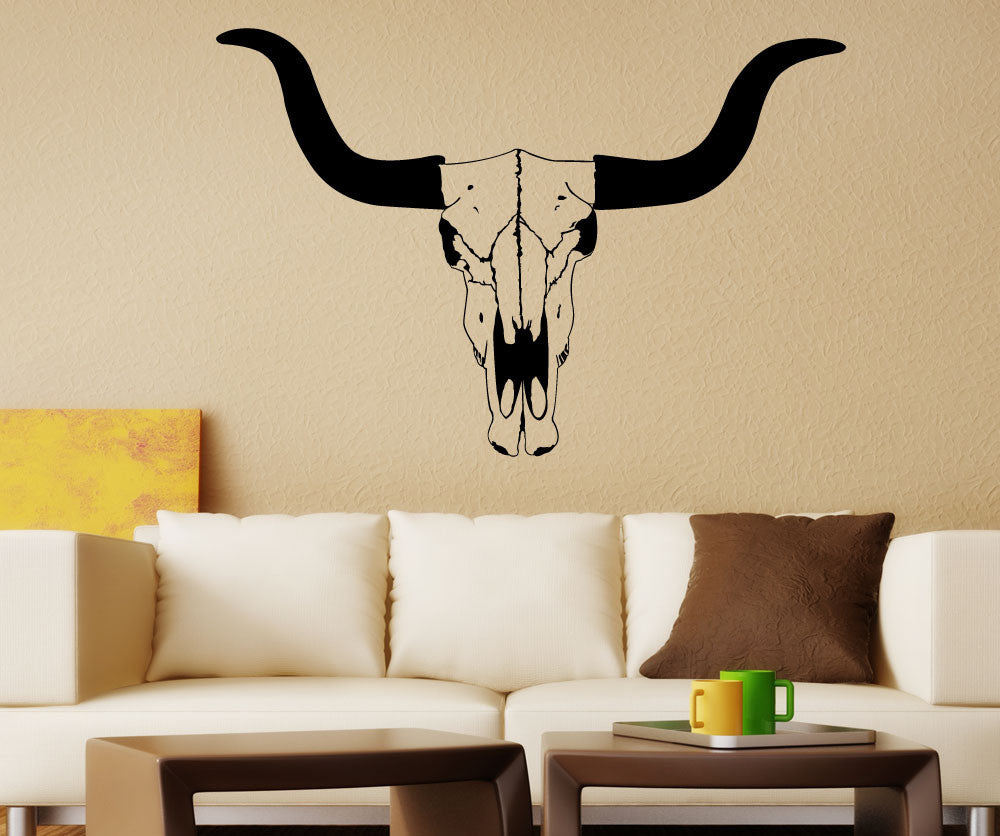 Vinyl Wall Decal Sticker Cow Skull 1559