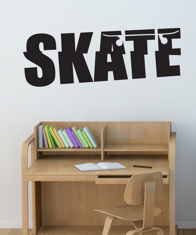 Vinyl Wall Decal Sticker Skate #1562
