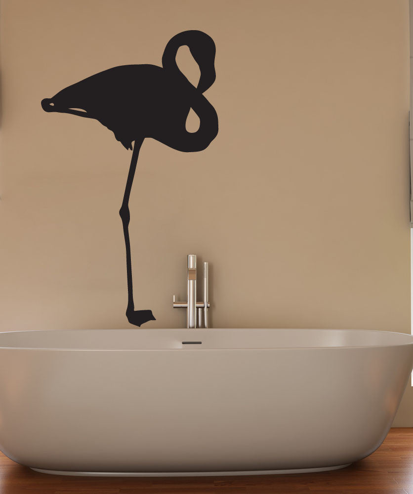 Vinyl Wall Decal Sticker Standing Flamingo #1564
