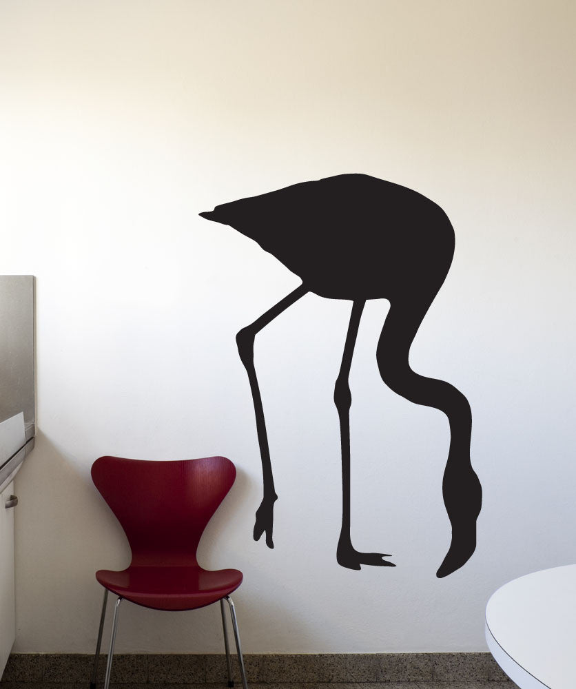 Vinyl Wall Decal Sticker Wading Flamingo #1565