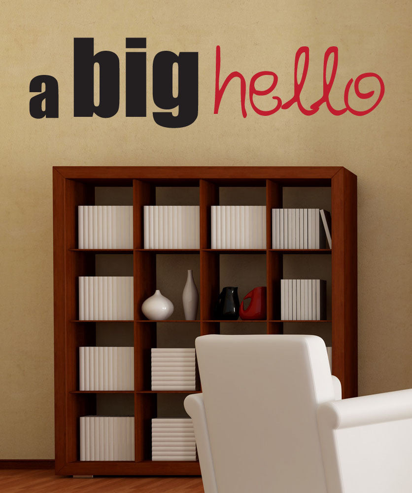 Vinyl Wall Decal Sticker A Big Hello #1566