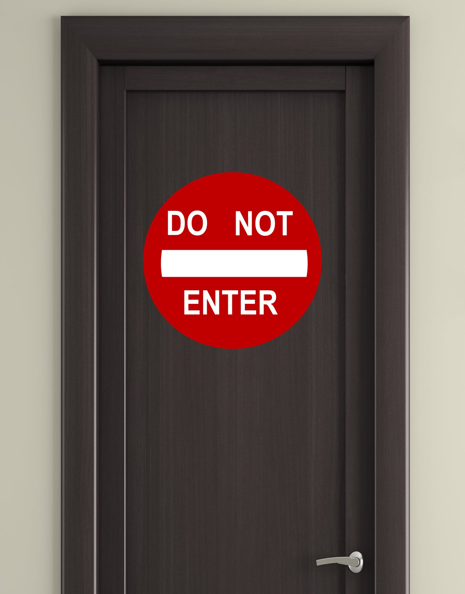 Do Not Enter Sign Printed Wall Graphic Decal Sticker #156
