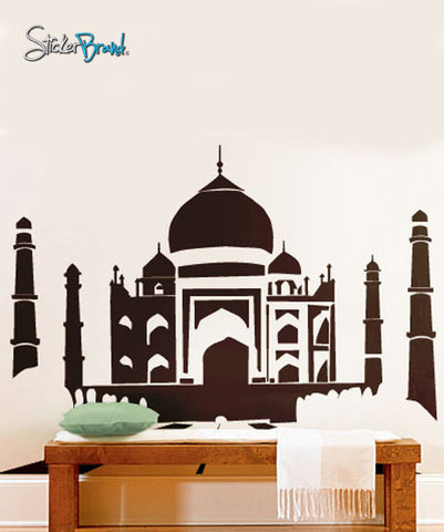 Vinyl Wall Art Decal Sticker Taj Mahal Silhouette India #158
