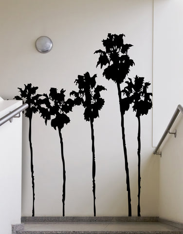 SoCal Roll of Palm Trees Wall Decal. LA California Palm Trees. #169