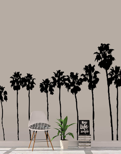 SoCal Roll of Palm Trees Wall Decal. Sunset Blvd LA California Palm Trees. #169