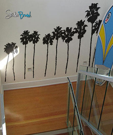 vinyl wall art decal socal roll of palm trees #169