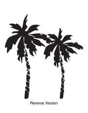 Florida Palm Trees Wall Decal. Tropical Home Decor. #181