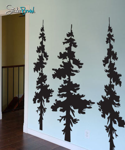 Vinyl Wall Decal Sticker Forest Trees Combo #186