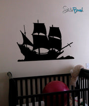 Vinyl Wall Decal Sticker Pirate Sail Ship Decoration #197
