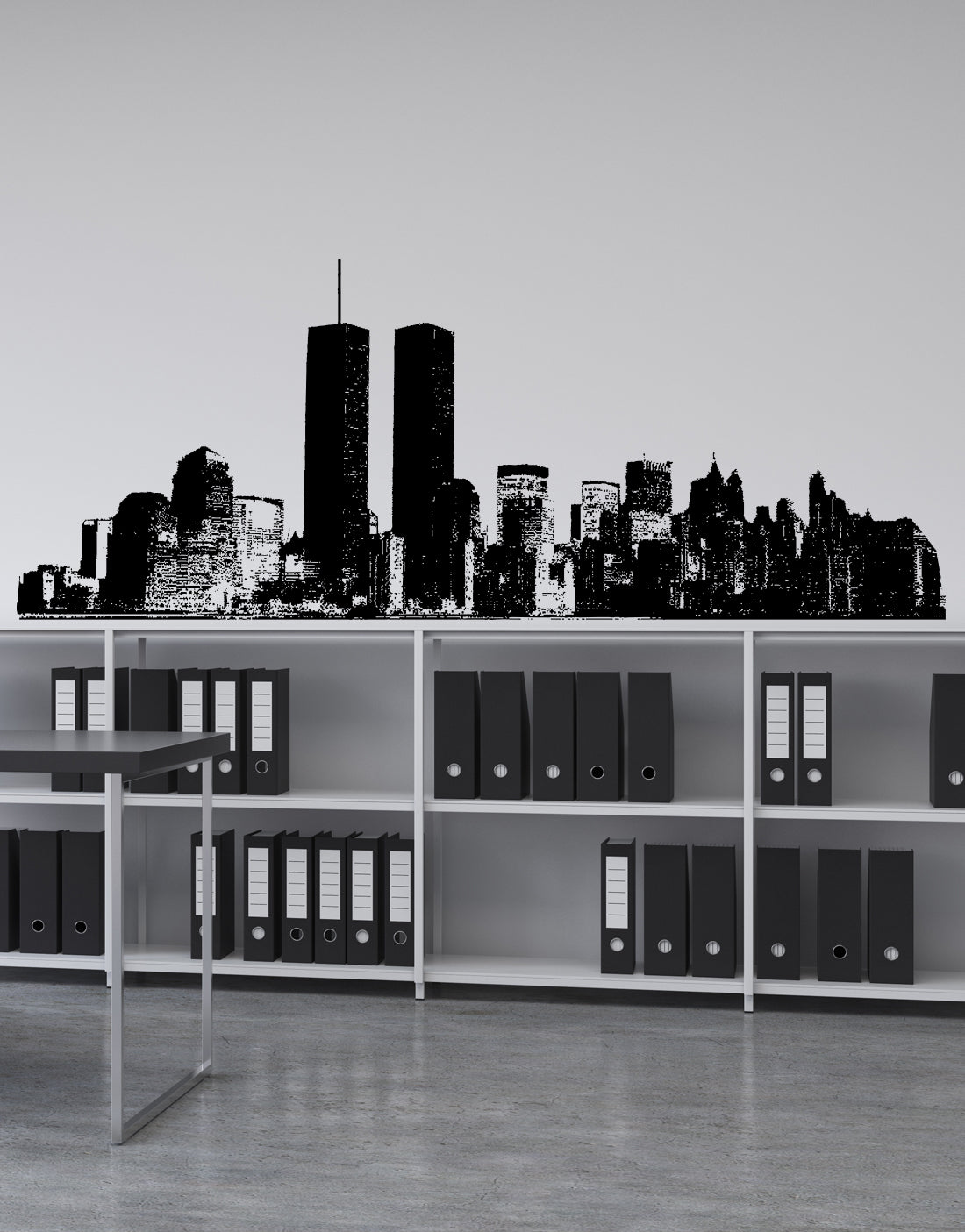 Vinyl Wall Decal Sticker NYC cityscape World Trade Art #198 & New York Skyline Wall Decal   Cityscape Decal
