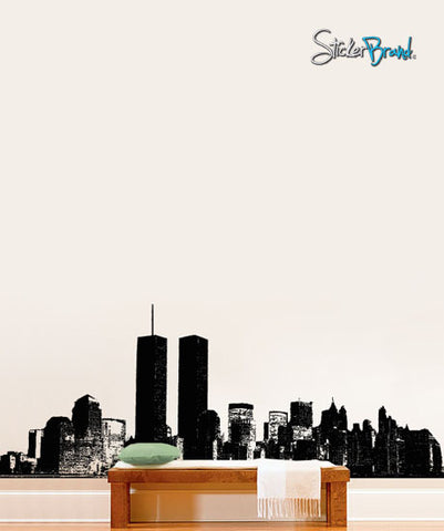 Vinyl Wall Decal Sticker NYC cityscape World Trade Art #198