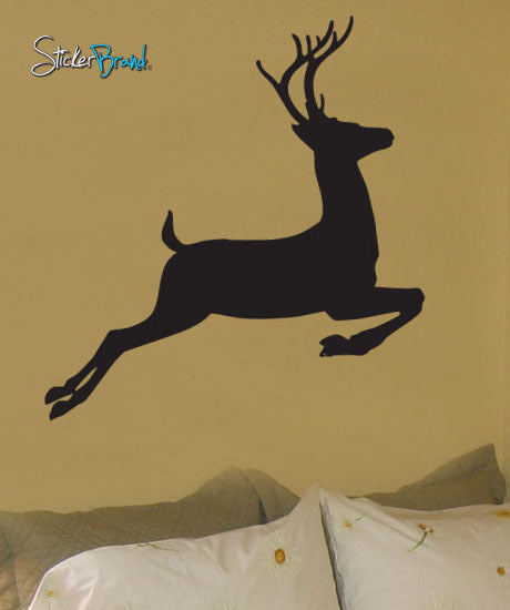Vinyl Wall Decal Sticker Deer Jumping #199