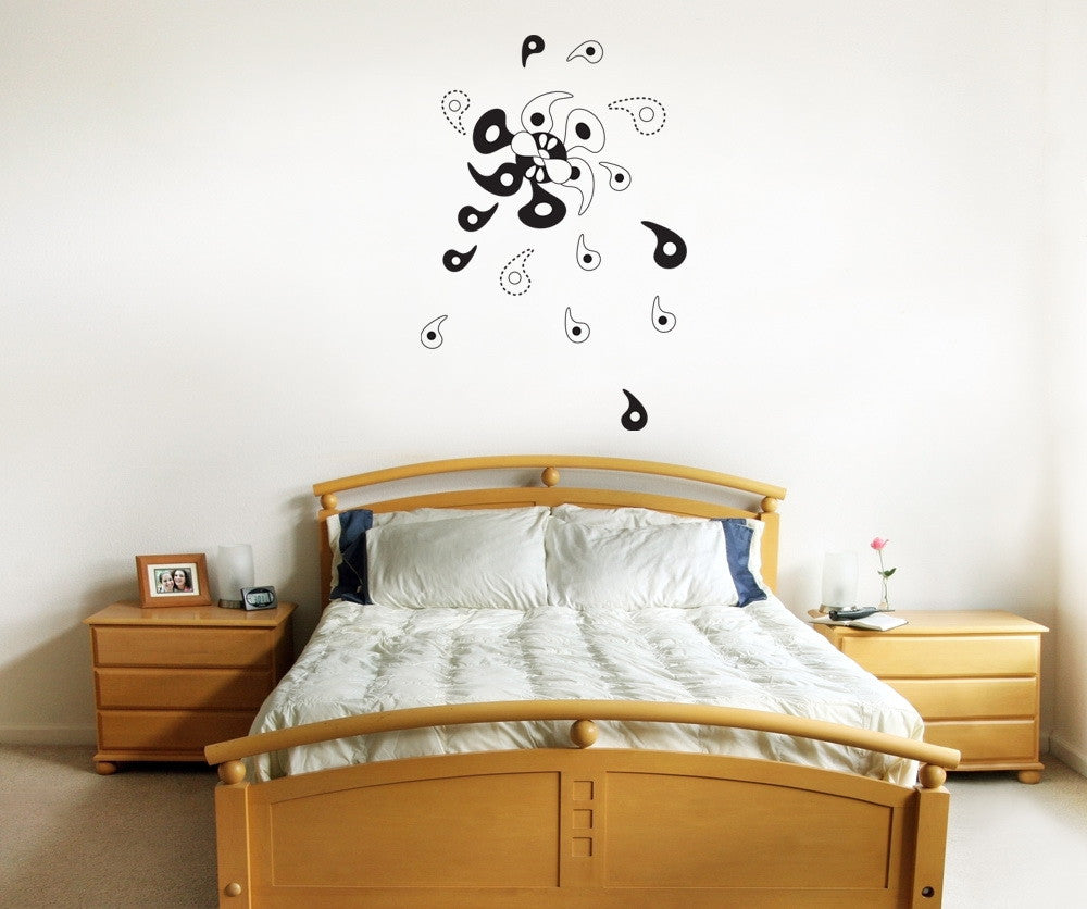Vinyl Wall Decal Sticker Abstract Pinwheel #OS_DC327