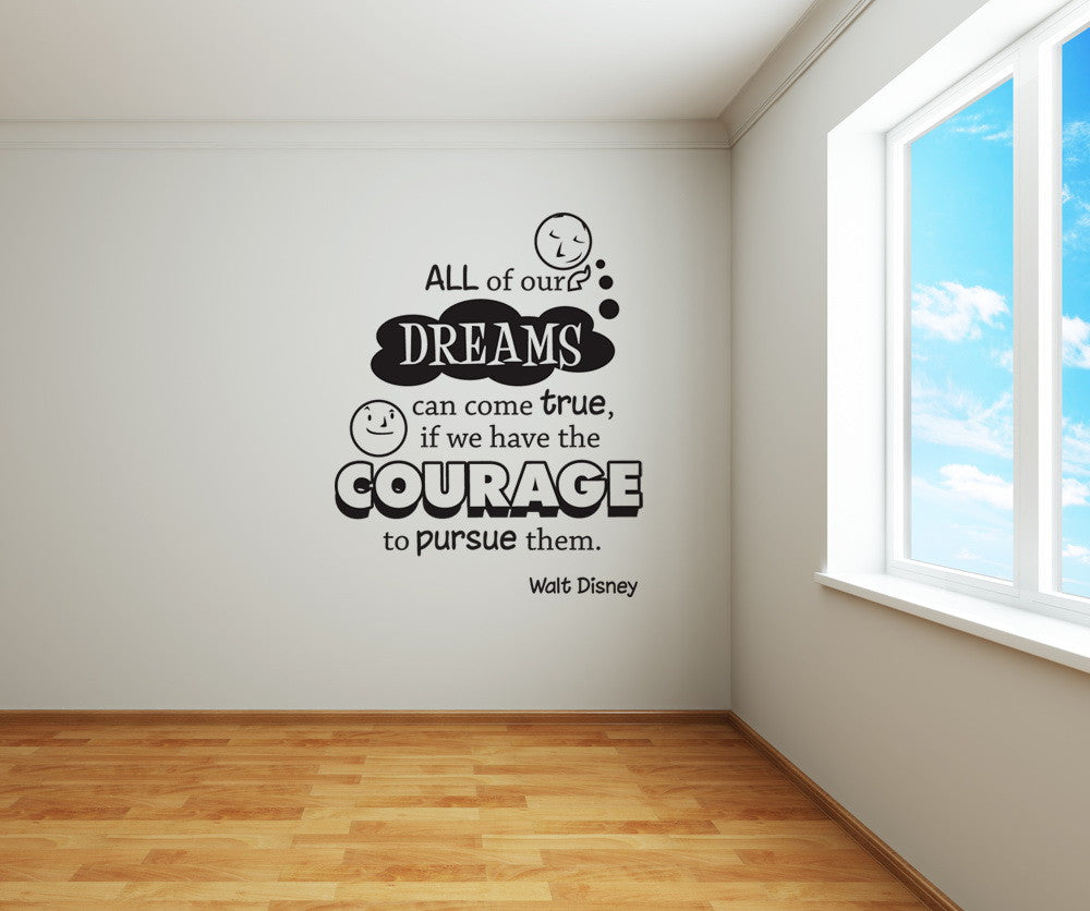 Vinyl wall decal sticker dreams can come true quote osdc301 amipublicfo Choice Image