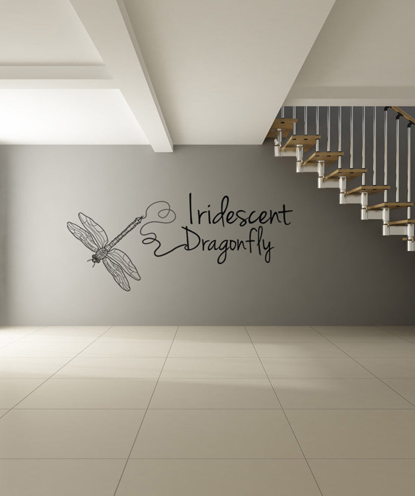 Vinyl Wall Decal Sticker Iridescent Dragonfly #OS_DC208