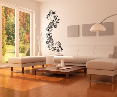 Floral Vine Vinyl Wall Decal Sticker. #OS_DC154