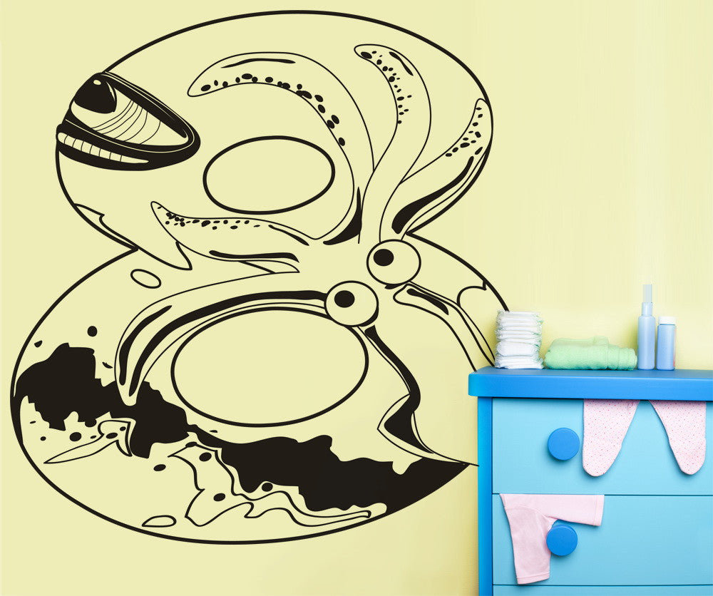 Vinyl Wall Decal Sticker 20,000 Leagues Under the Sea Number Eight #OS_DC254