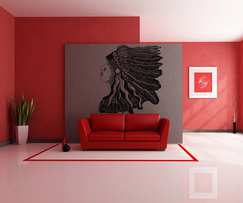 Vinyl Wall Decal Sticker Native American #OS_DC289