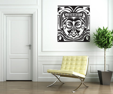 Vinyl Wall Decal Sticker Tribal Mask Painting #OS_DC295